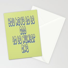 To be Number One Stationery Cards