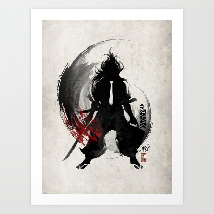 Discover the motif CORPORATE SAMURAI by Stanley Artgerm Lau as a print at TOPPOSTER