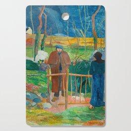 Bonjour Monsieur Gauguin (II) - Paul Gauguin (1889) Cutting Board