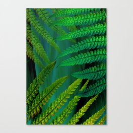 Forest Fern Green Canvas Print