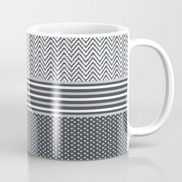 Ikat Grey Chevron Coffee Mug