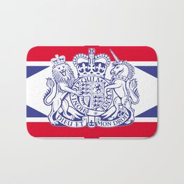 UK coat of arms and flag Bath Mat