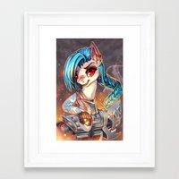 mlp Framed Art Prints featuring MLP: Jinx by Erin Liona
