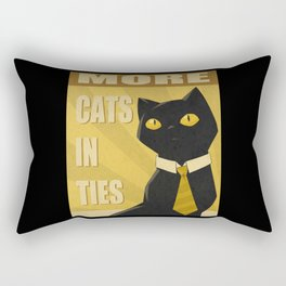 Cats in Ties - PSA Rectangular Pillow