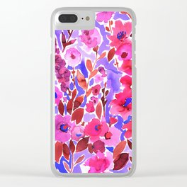Isla Floral Purple Clear iPhone Case