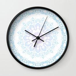 winter sun Mandala Wall Clock