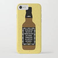 jack daniels iPhone & iPod Cases featuring Frank Sinatra & Jack Daniels by Lil Tuffy