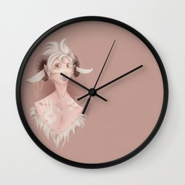 Curly horns Wall Clock