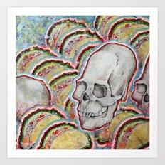 Skull Tacos Art Print