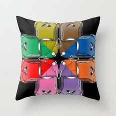 Beetle Collide-a-scope Throw Pillow