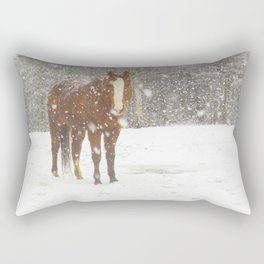 Western Winter Wonderland Rectangular Pillow