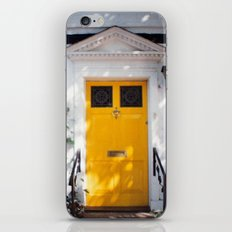 The Perfect Yellow Door iPhone & iPod Skin