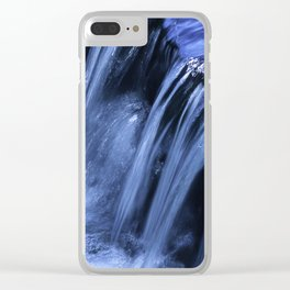 Jackson Creek Bubbles Over Rocks And Roots Clear iPhone Case