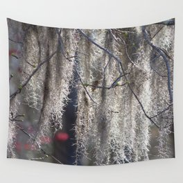 Watercolor Forb Spanish Moss 02, Hanging Mystery Wall Tapestry