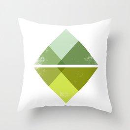 Spring Green Mountains Throw Pillow