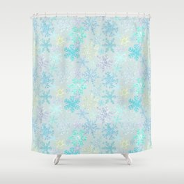 icy snowflakes Shower Curtain