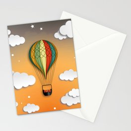 Balloon Aeronautics Dawn Stationery Cards
