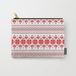 Wellspring - Star Alatyr - Ethno Ukrainian Traditional Pattern - Slavic Symbol 2 Carry-All Pouch