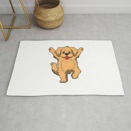 Jubilation Dog Dance Emote Funny Gift Rug
