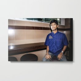 Hyderabad - Waiter at Hotel Surya Metal Print