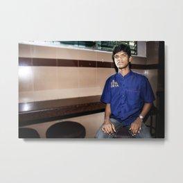 Hyderabad - Waiter at Hotel Surya Metal Print