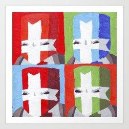 Warhol Crashers Art Print