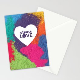 Choose Love Heart Quote Print Stationery Cards