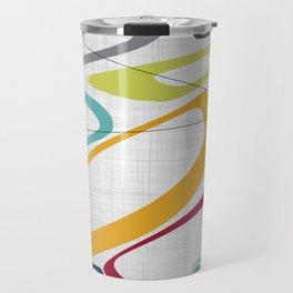 Mid Century Modern Art Travel Mug