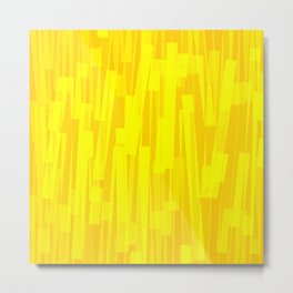 Geometric Yellow Gold Painting Metal Print