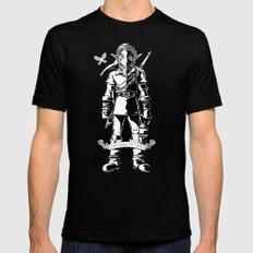 Legend of Zelda - Epic Link Vintage Geek Line Artly MEDIUM Mens Fitted Tee Black