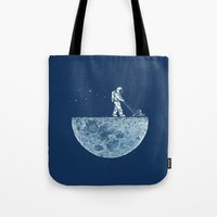 shadow Tote Bags featuring Mown by Enkel Dika