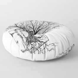 Replacing Nature with Knowledge Floor Pillow