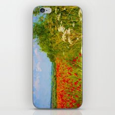 Poppy fields iPhone & iPod Skin