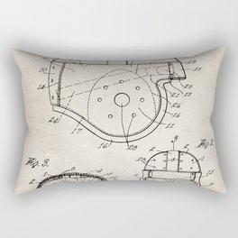 Football Helmet Patent - Football Art - Antique Rectangular Pillow