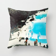 swimming pool 3 Throw Pillow