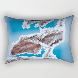 Frozen leaf Rectangular Pillow