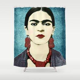 Frida Kahlo Dark Shower Curtain
