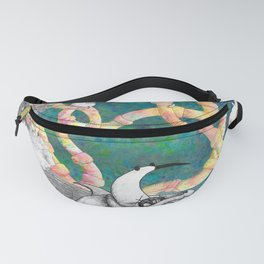 Doodle Birds in Space  Fanny Pack