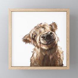 Finn the Calf Framed Mini Art Print