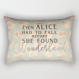 Alice Found Wonderland Rectangular Pillow