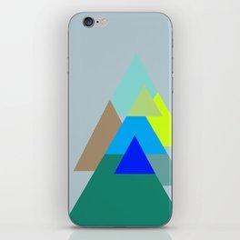 Triangles - mud color scheme  iPhone Skin