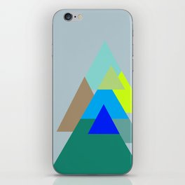 Triangles - mud color scheme  iPhone Skin