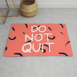 DO NOT QUIT #society6 #motivational Rug
