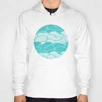 jazzberry Hoodies featuring The Calm and Stormy Seas by Pom Graphic Design