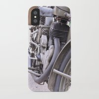 motorbike iPhone & iPod Cases featuring Old motorbike by Carlo Toffolo