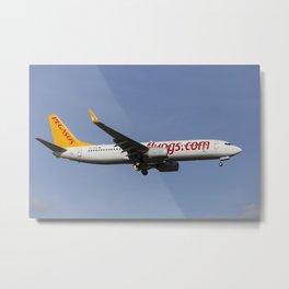 Pegasus Airlines Boeing 737 Metal Print