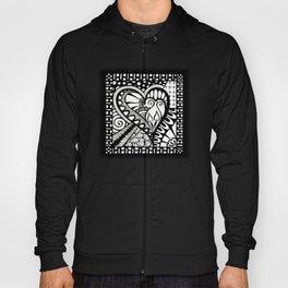 Abstract heart doodle Hoody