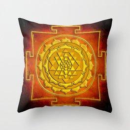 Sri Yantra - Warming Throw Pillow