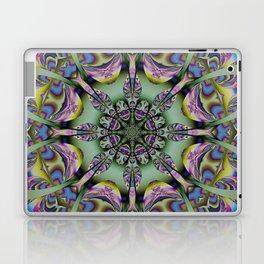 Colourful mandala with decorative shapes and tribal patterns Laptop & iPad Skin