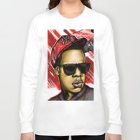 jay z Long Sleeve T-shirts featuring Jay Z by C.Love Designs